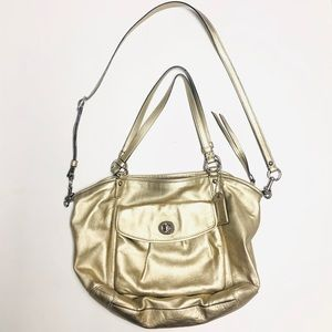 Coach Gold Leather Bag